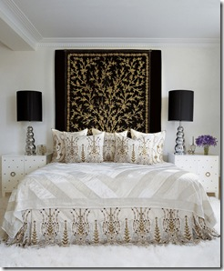 white and gold bed room MLB