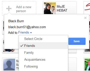 Inviting Friend in Google+