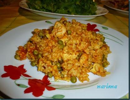 arroz con pechuga de pavo a la cúrcuma,racioon copia