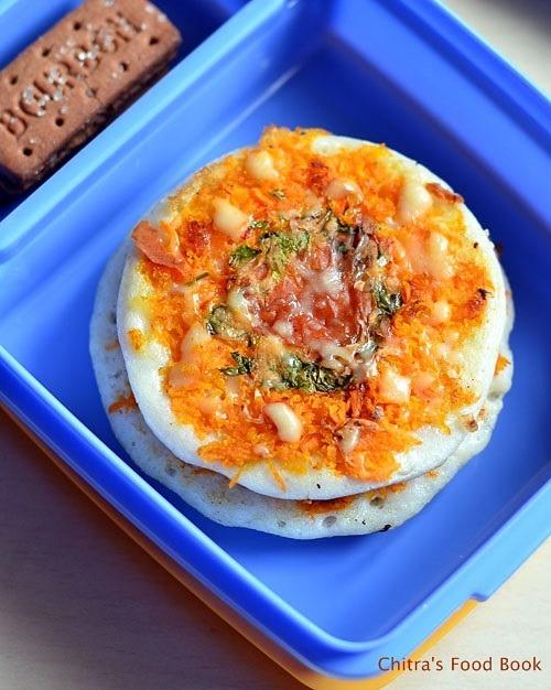Cheesy veg uttapam recipe