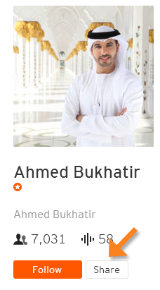 SoundCloud user profile