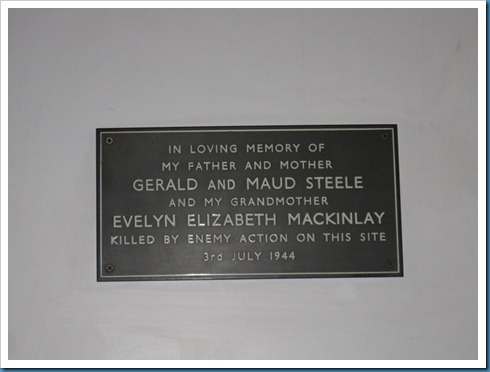 Plaque in the Hyde Park Chapel
