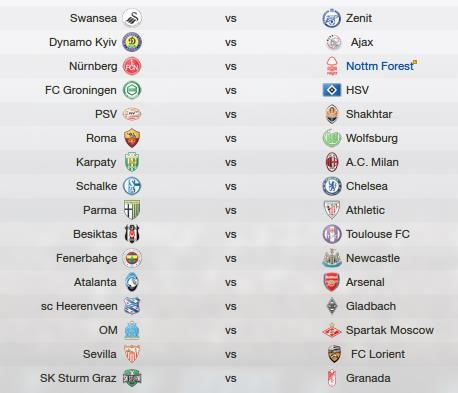Europa League draw - 2016