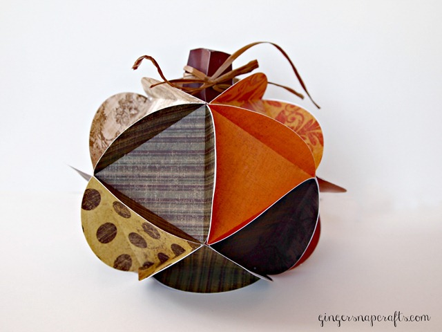 paper pumpkin from Silhouette