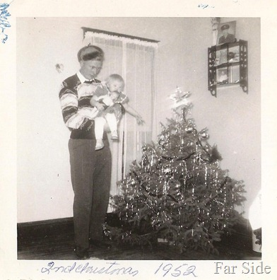 Christmas 1953 Dad and me