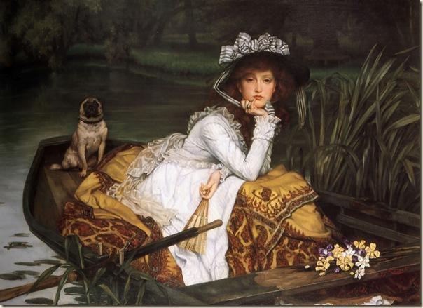 James Tissot, Jeune fille dans une barque