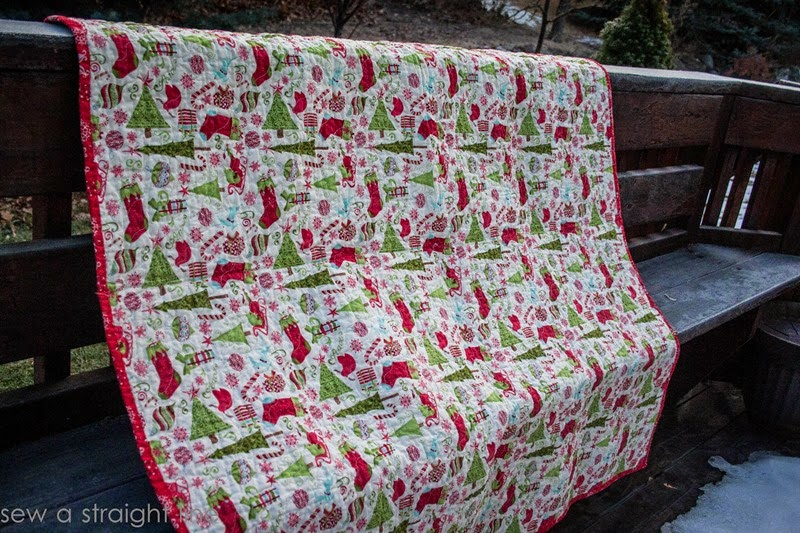 moda 12 days of Christmas quilt step in time sew a straight line-8