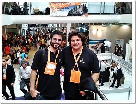 Javier Courel y Jerónimo Cañas los ponentes y miembros de PadelScience que particiaron en el 19th Annual Congress of the European College of Sport Science 2014