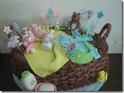baby shower cake basket