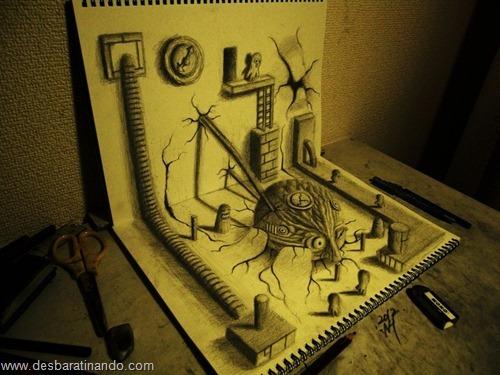 desenhos lapis 3D desbaratinando  (12)
