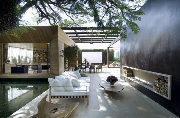 Diseño de una casa imponente donde el exterior y el interior se ...