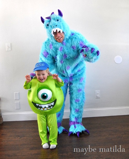 Mike and Sully halloween costumes