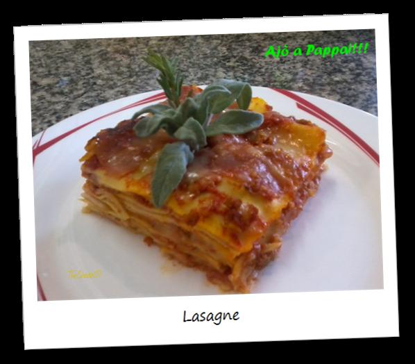 Fotografia della ricetta delle lasagne