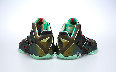 nike lebron 11 gr army slate 9 04 parachute gold Nike LeBron XI is Coming out on October 12th. New pics!
