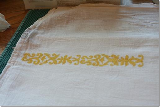 Stenciling Flour Sack Dish Towels (8)