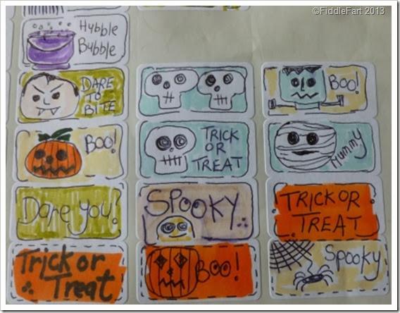 Doodled Halloween Stickers