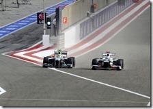 Rosberg passa Kobayashi nel gran premio del Bahrain 2012