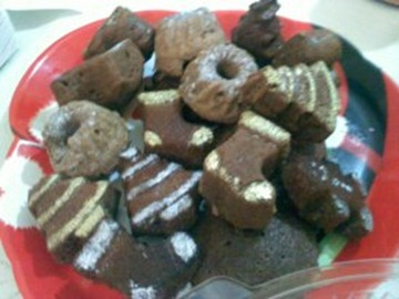 Nefercookies - mini tortas negras de navidad