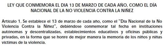 no violencia niñez