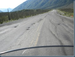 ROAD HAZARD!  Frost damage is everywhere on Alaska's and Yukon's roads