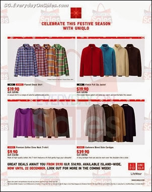 Uniqlo Festive Sale Singapore Jualan Gudang Jimat Deals EverydayOnSales Offers
