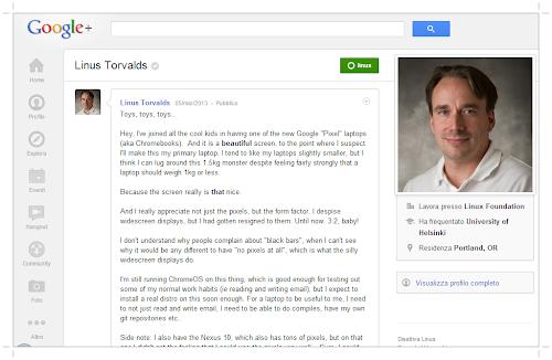Torvalds e il nuovo Chromebook Pixel