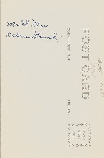 Oclair Strand Postcard back DL Ant