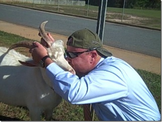 Keith Kissing Goat