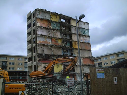 Ballymun Flats Demoltion