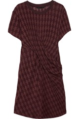 Karl Davina ruched patterned jersey dress