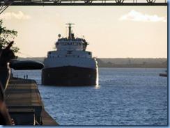 5217 Michigan - Sault Sainte Marie, MI - Soo Locks  - Canadian freighter Frontenac entering MacArthur Lock