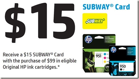 Subway HP Ink