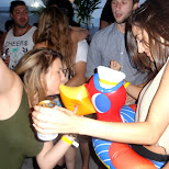 kiss the ducky at Cabana Toronto in Toronto, Ontario, Canada