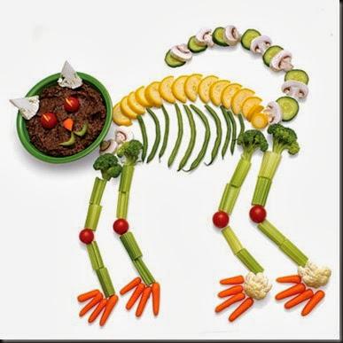Gatto di Halloween di verdure