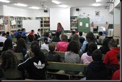 charlando con alumnos