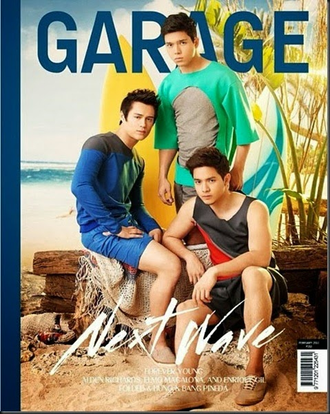 elmo magalona, enrique gil and alden richards for garage