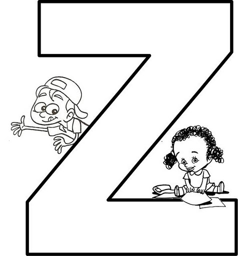 Z Letter Z Coloring Letter Z Coloring Page