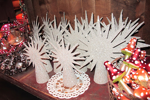 Serious sunburst tree-toppers. At John Derian, treasures are already glittered for you and it's not necessary to spend hours in the craft room!