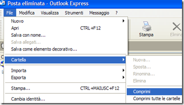 Outlook Express File-Cartella-Comprimi