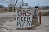 """Gas Beer Pizza"" - copyright David Thompson"