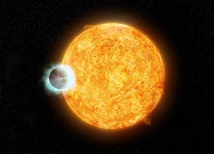 ilustração do sistema WASP-18