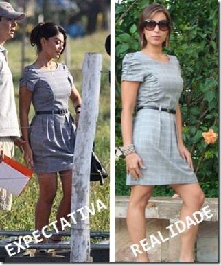 comparação do vestido da Juliana Paes com o vestido Moda de Novela