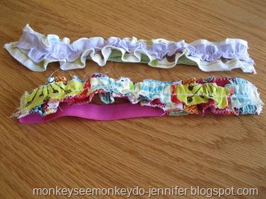 elastic ruffle headband