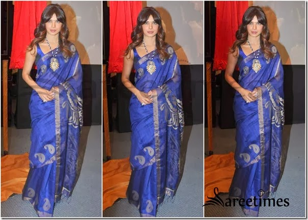 Priyanka_Chopra_Blue_Saree (1)