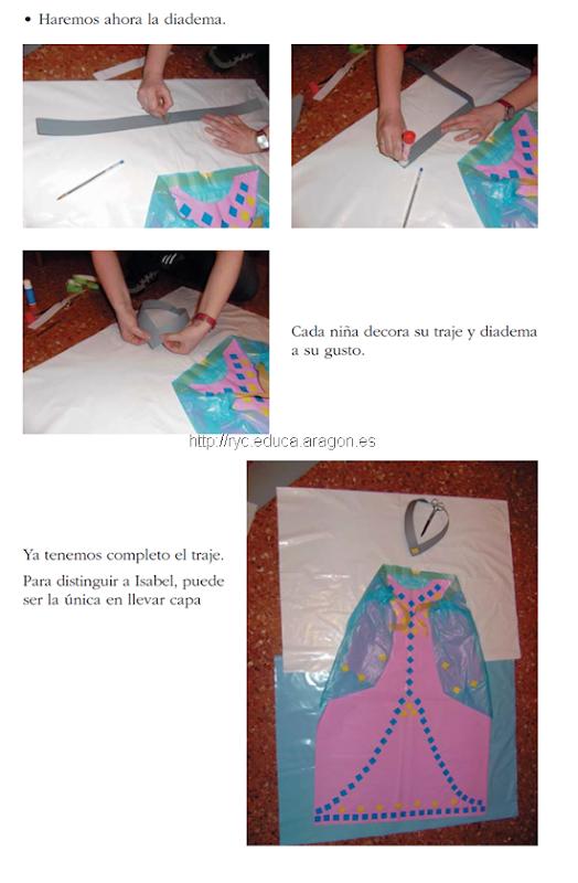 dizfraz dama mediveal hecho con bolsa