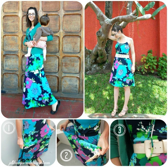 maxi dress fashion collage