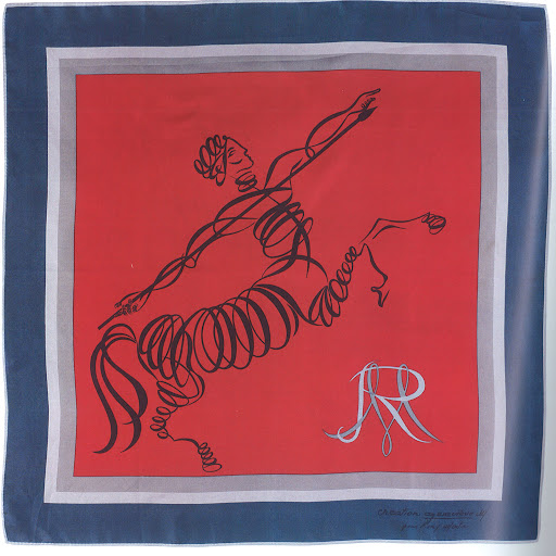 Genviève M. for 'Rémy Martin', silk, 1970s.  (