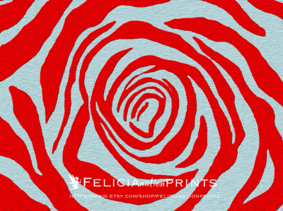 Red rose print digital photo manipulation and transformation by Felicia-May stevenson from Felicianation Prints