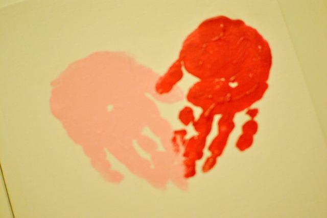Valentines Day handprint heart canvas-5