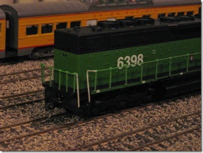 IMG_0454 Burlington Northern SDP40 #6398 My Layout on April 5, 2008